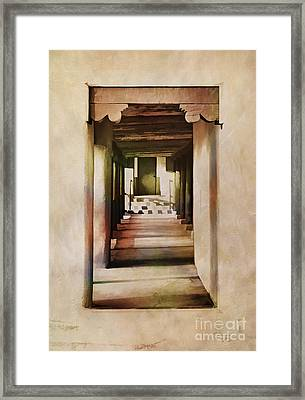 Abstract - Side Entrance Christo Rey Church Framed Print