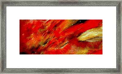 Framed Print featuring the painting Abstract-simple Red 3 by Sherri  Of Palm Springs