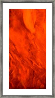 Abstract-simply Red Framed Print by Sherri's - Of Palm Springs