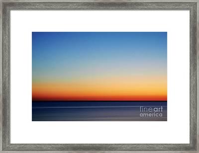 Abstract Sky Framed Print by Tony Cordoza