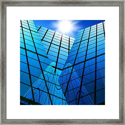 Abstract Skyscrapers Framed Print by Setsiri Silapasuwanchai