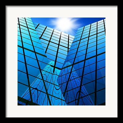 Abstract Cityscape Framed Prints