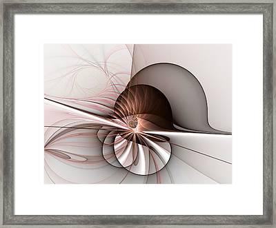 Abstract Snail Framed Print by Gabiw Art