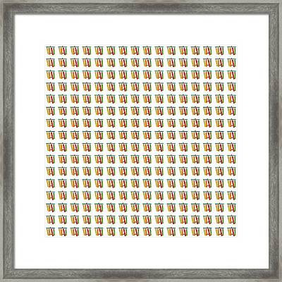 Abstract Square 117 Framed Print by Patrick J Murphy