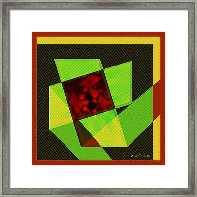 Framed Print featuring the digital art Abstract Squares And Angles by Kae Cheatham