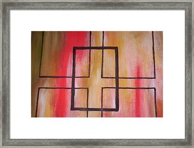 Abstract Squares Framed Print by Becca Haney