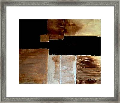 Abstract Squares Framed Print by Marsha Heiken