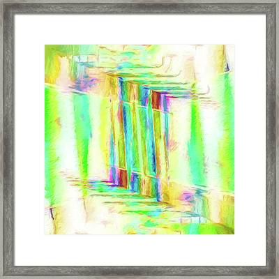 Abstract - Stained-glass Dreams Framed Print