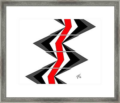 Framed Print featuring the digital art Abstract Stairs by John Wills