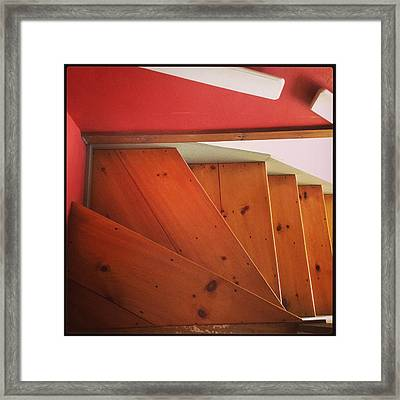 Abstract Stairs Framed Print