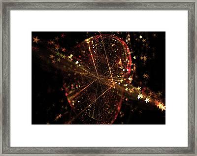 Abstract Star Background Forming Leaf Shape Framed Print