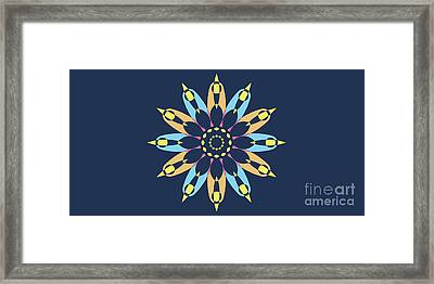 Abstract Star On Blue Landscape Framed Print by Pablo Franchi