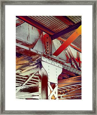 Grunge Steel Beam Framed Print by Robert G Kernodle