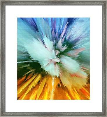 Abstract Storm Vortex Framed Print by Georgiana Romanovna