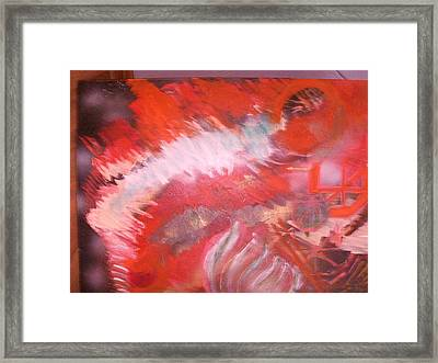Abstract Study In Red  Framed Print by Anne-Elizabeth Whiteway