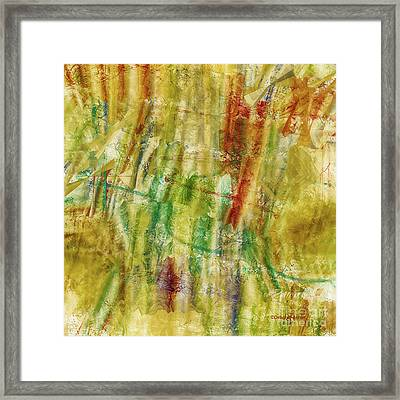 Framed Print featuring the digital art Abstract Sunday by Deborah Benoit