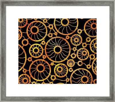 Abstract Sunflower Field Framed Print by Frank Tschakert