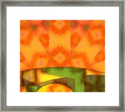 Abstract Sunrise Framed Print