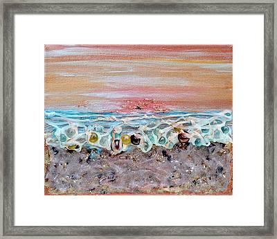Abstract Sunset Framed Print by Regina Valluzzi