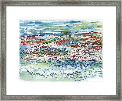 Abstract Surfer 42 Framed Print by Robert Yaeger