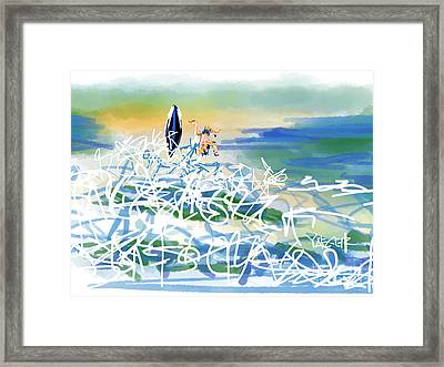 Abstract Surfer 43 The Wipeout Framed Print by Robert Yaeger