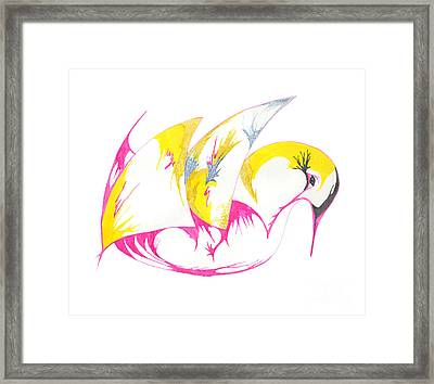 Abstract Swan Framed Print