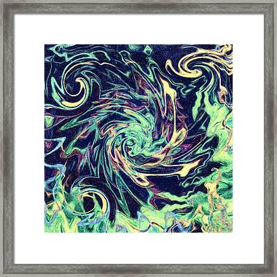 Abstract - Swirls And Eddies Framed Print