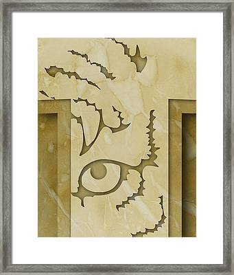 Abstract T Framed Print by Vanessa Bates