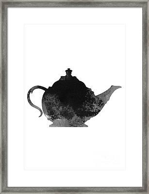Abstract Teapot Silhouette Framed Print by Joanna Szmerdt