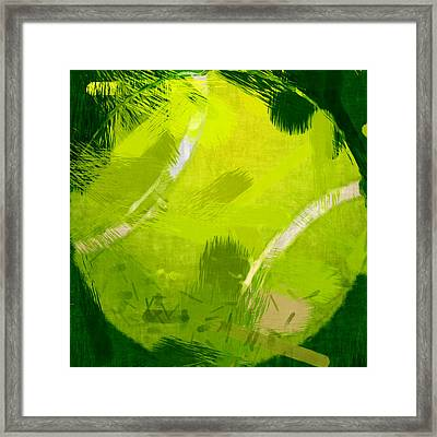 Abstract Tennis Ball Framed Print by David G Paul