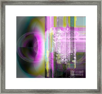 Abstract The Moment Framed Print by Fania Simon