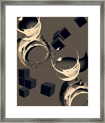 Abstract Three Framed Print by Patricia Motley