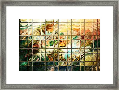 Abstract-through Glass Framed Print