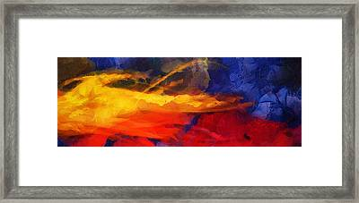 Abstract - Throw  Framed Print by Sir Josef - Social Critic -  Maha Art