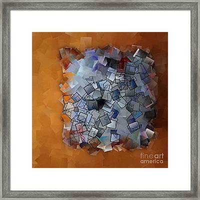 Revival - Abstract Tiles No15.824 Framed Print by Jason Freedman