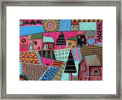 Abstract Town Framed Print by Karla Gerard