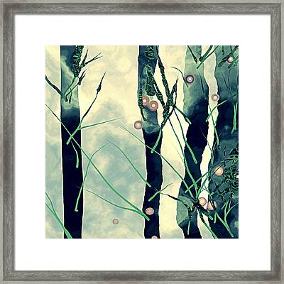 Abstract Trees Framed Print by GuoJun Pan