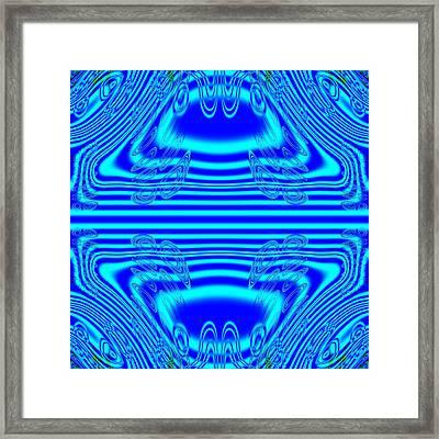 Abstract Trigonometric Rain No 008 Framed Print