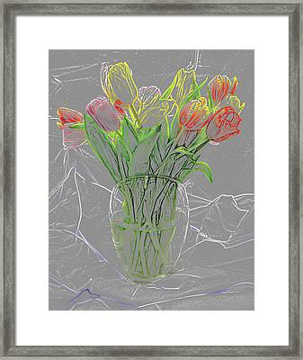 Abstract - Tulips Framed Print