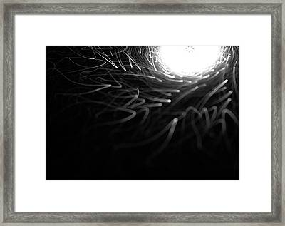 Abstract Tunnel With Light Coming From The End Framed Print