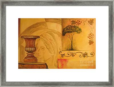 Abstract Tuscany Garden Framed Print