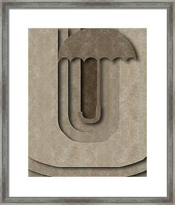 Abstract U Framed Print by Vanessa Bates