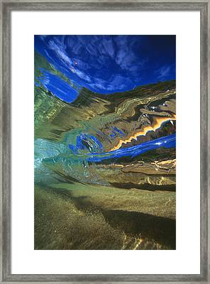 Abstract Underwater View Framed Print