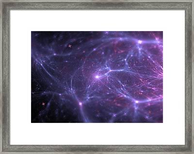 Abstract Universe Wallpaper Framed Print