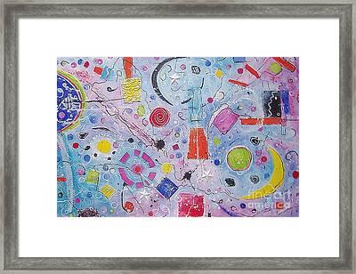 Abstract Universum 2 Framed Print by Anita Dielen
