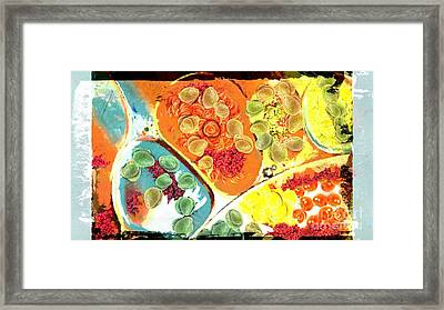 Abstract Upside Down Salad Framed Print