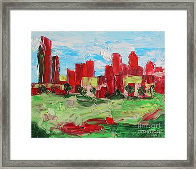 Abstract Uptown 6586 Framed Print by Robert Yaeger
