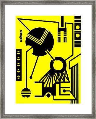 Abstract Urban 02 Framed Print by Dar Geloni