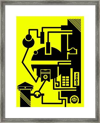 Abstract Urban 03 Framed Print by Dar Geloni
