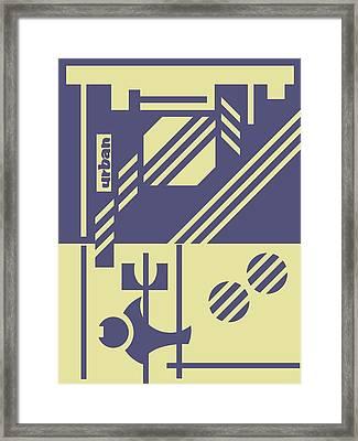 Abstract Urban 04 Framed Print by Dar Geloni
